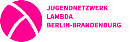 Logo: Jugendnetzwerk Lambda Berlin-Brandenburg in pink
