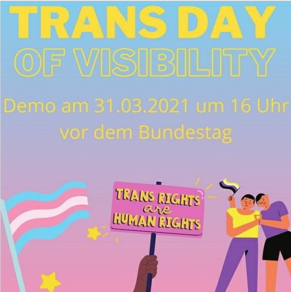 Trans*Day of Visibility!